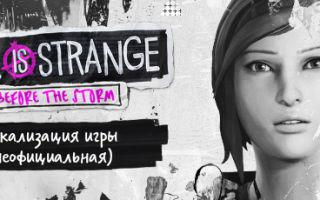 Русификатор текста 1-3 эпизодов Life is Strange: Before the Storm