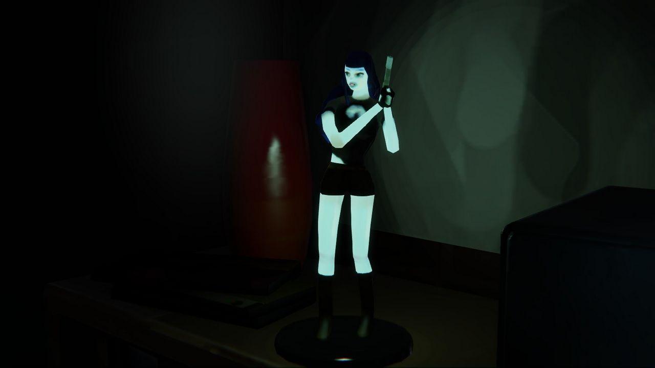 кукла после засвета фонариком