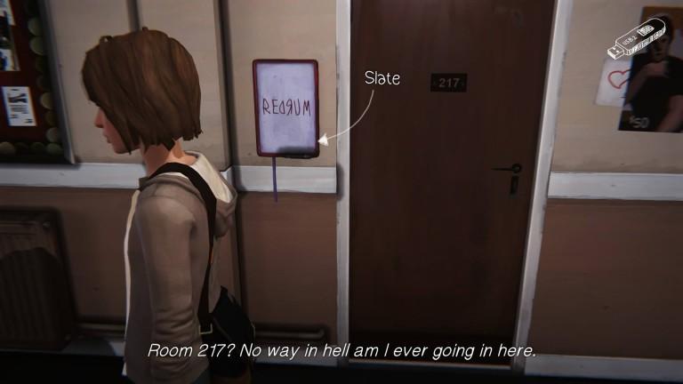 Макс Колфилд возле комнаты 217