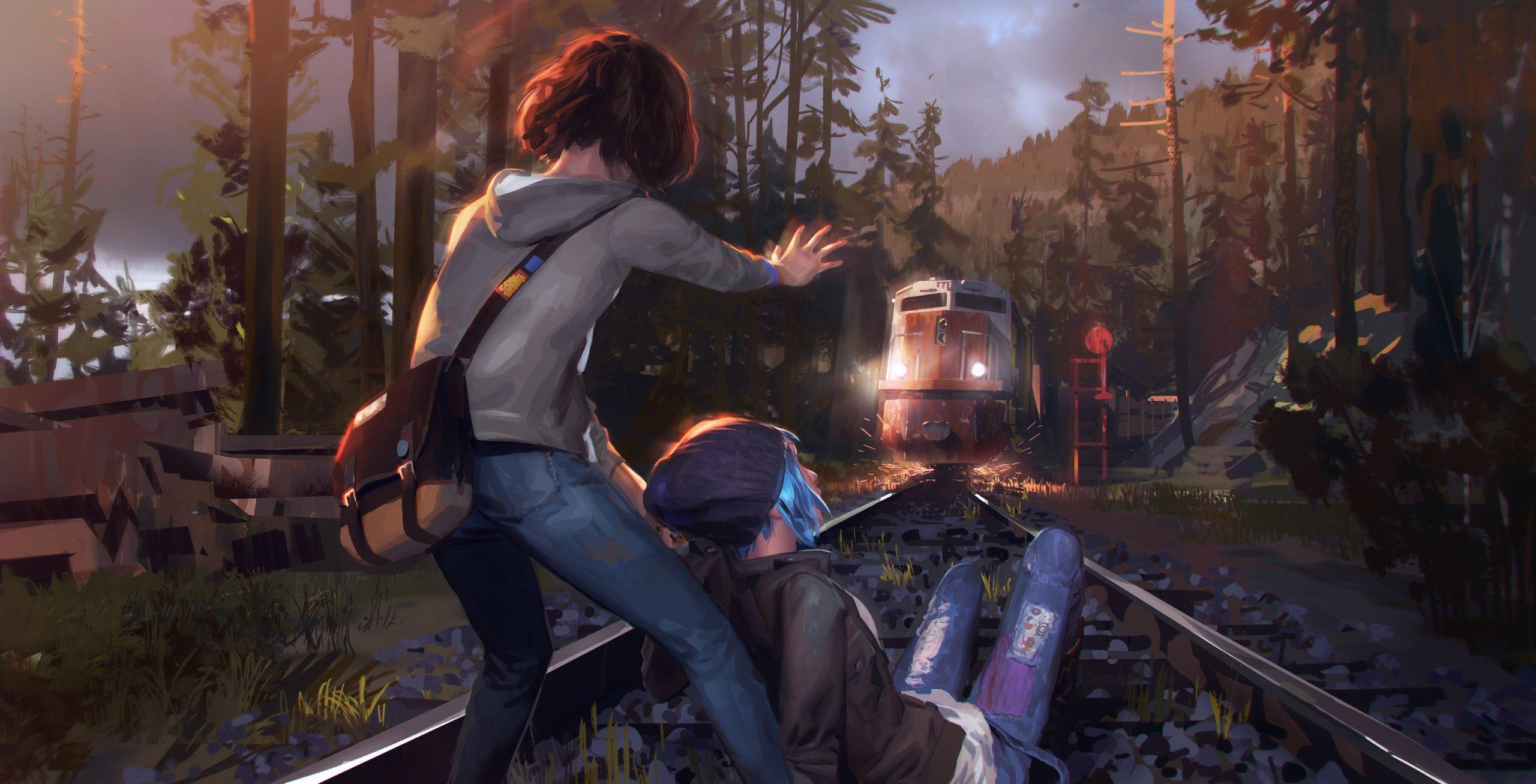 Арт «Train Tracks» ко второму эпизоду Life is Strange
