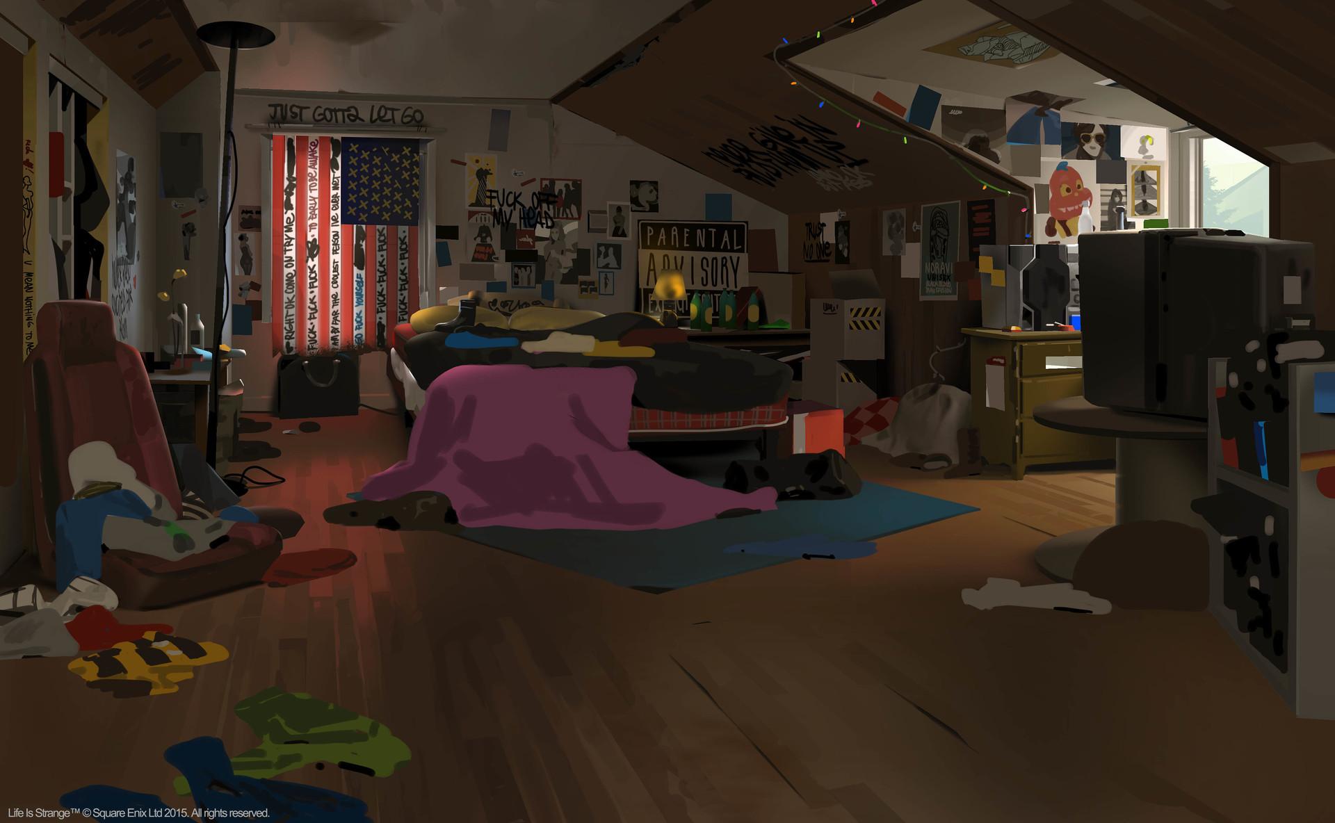 Комната Хлои: концепт-арт игры Life is Strange (2015)