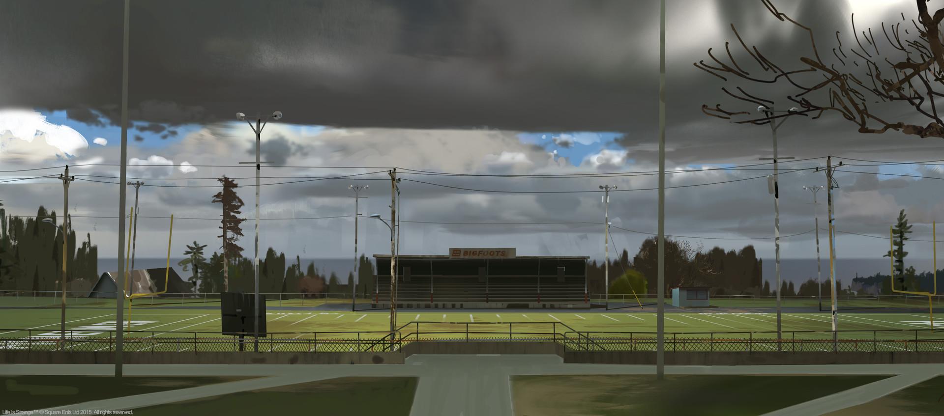 Футбольное поле: концепт-арт игры Life is Strange (2015)