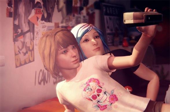 Скриншот с Макс и Хлоей из игры Life is Strange
