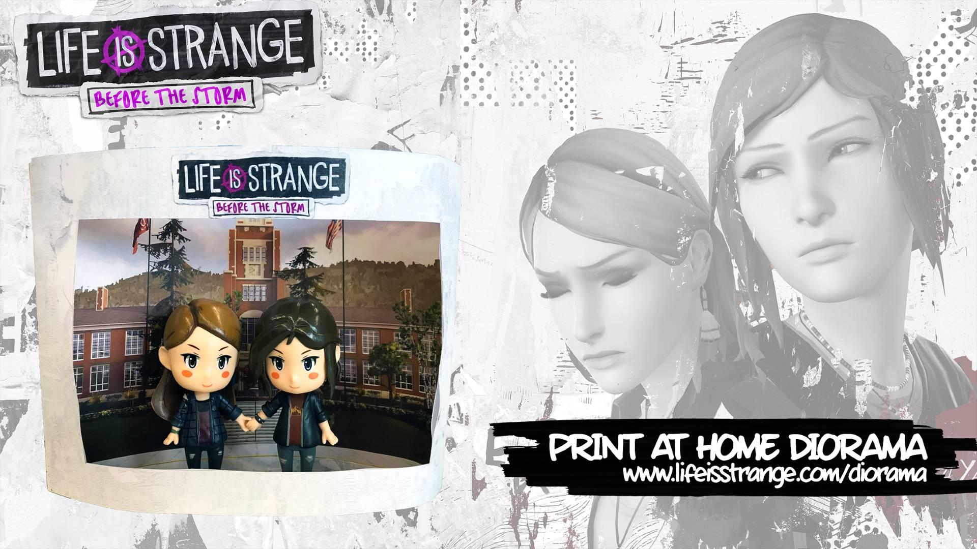 Диорама для фигурок Хлои и Рэйчел из Life is Strange: Before the Storm