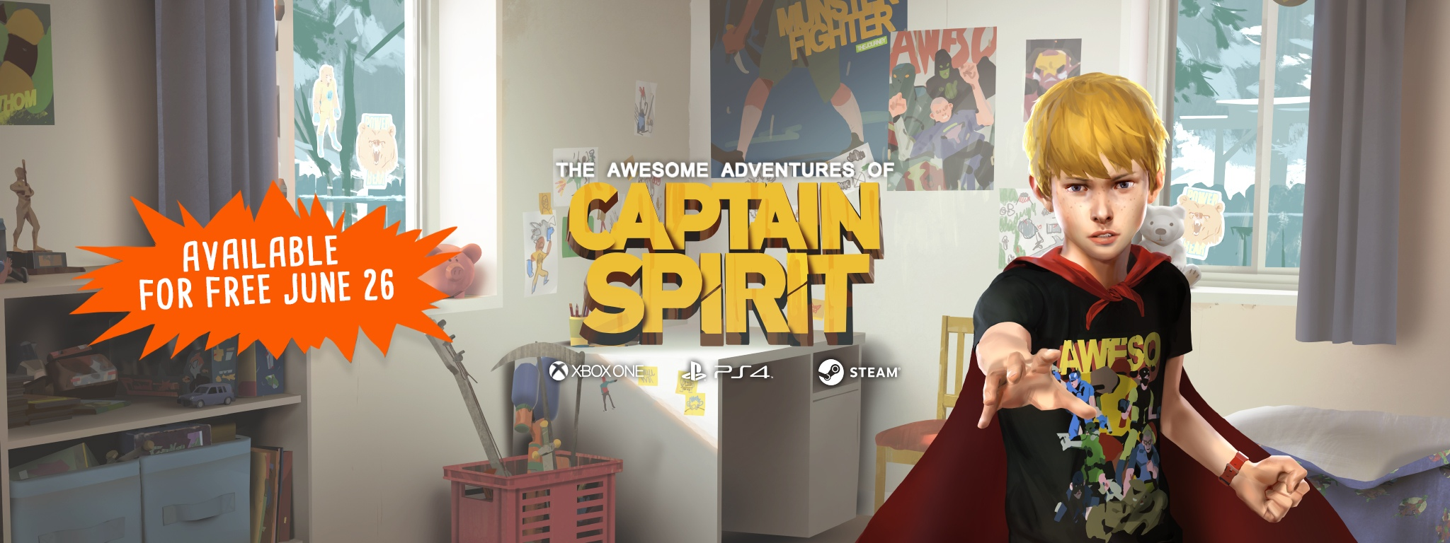 Промо-баннер The Awesome Adventures of Captain Spirit