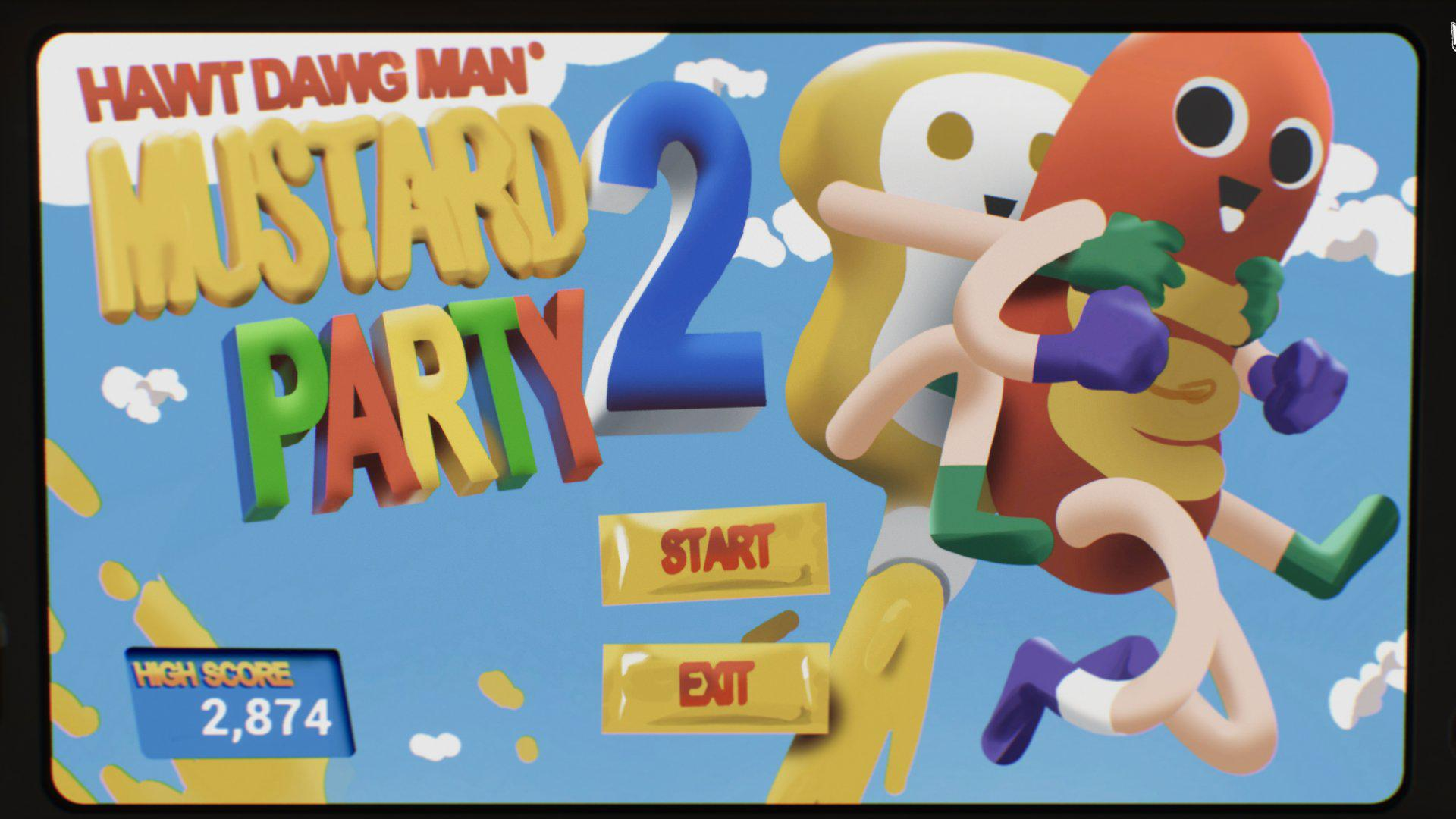 Меню мини-игры Hawt Dawg Man: Mustard Party 2